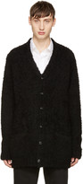 Attachment Black Looped Knit Cardigan