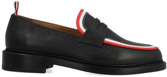 Thom Browne Tri-Colour Stripe Trimmed Loafers