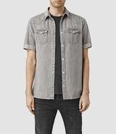 AllSaints Groley Short Sleeve Denim Shirt