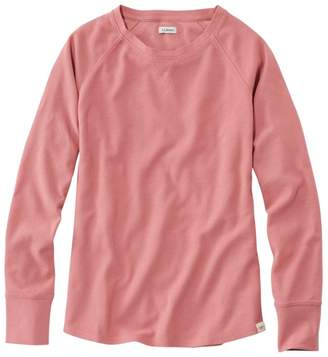 L.L. Bean L.L.Bean Women's Unshrinkable Mini-Waffle Tee, Long-Sleeve Crewneck