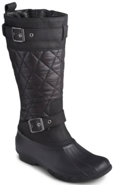 Sperry Women's Saltwater Buckled Quilted Boots Women's Shoes