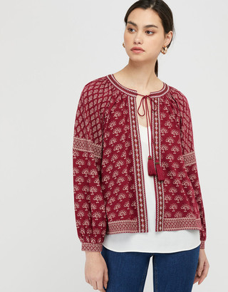 Under Armour Heshna Printed Cover-Up with Tassels Red