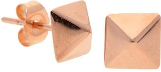 Nephora 14K Rose Gold Pyramid Studs
