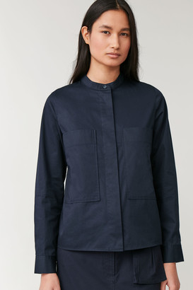 Cos Patch-Pocket Grandad Shirt