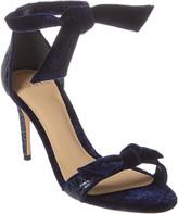 Alexandre Birman Clarita 105 Croc-Embossed Leather & Velvet Sandal