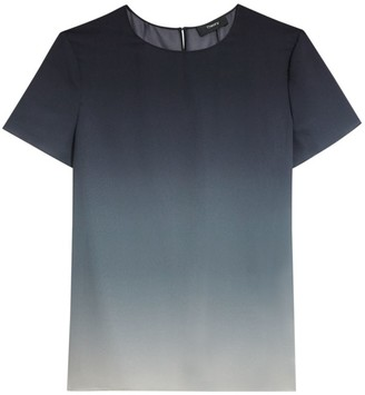 Theory Woven Ombre Silk T-Shirt
