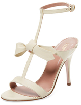 RED Valentino Leather T-Strap Sandal