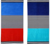 Color Block Oversized Beach Towel