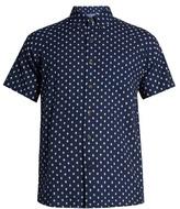 Blue Blue Japan Diamond-print short-sleeved cotton shirt