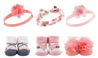 Hudson Baby Girl Headband & Socks Giftset, 6pc