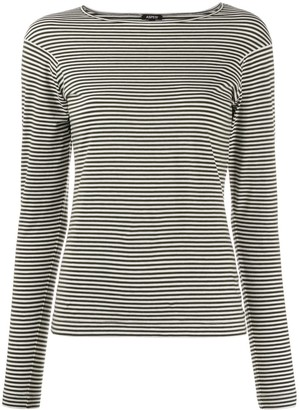 Aspesi striped boat neck T-shirt