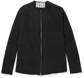 By Walid - Liam Collarless Embroidered Silk Jacket