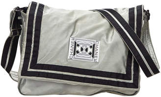 Chanel Gray Nylon CC Sports Line Crossbody Bag