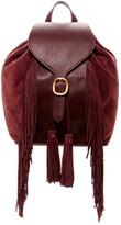 Frye Clara Fringe Leather Backpack