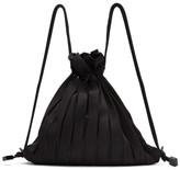 Issey Miyake Black Linear Knit Bag