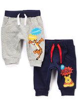 Children's Apparel Network Gray Pooh & Tigger Knit Pants - Infant