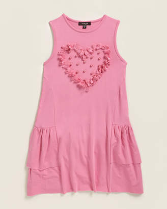 Imoga Girls 4-6x) Susan Faux Pearl Heart Detail Dress
