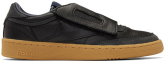 Nanamica Black and Grey Reebok Edition Club C Stomper Sneakers