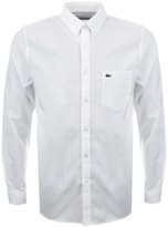 Lacoste Long Sleeved Oxford Shirt White
