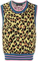 Comme des Garcons leopard print sweater vest