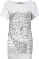 Stella McCartney Printed cotton and silk-blend T-shirt