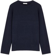 The Row Sibel Navy Wool-blend Jumper