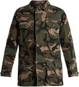 Valentino Camouflage-print cotton jacket