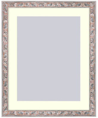 Frames By Mail Wall Picture Frame Terracotta w/ Silver highlights - acidfree white ma