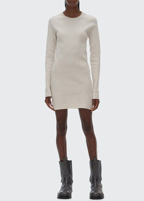 Helmut Lang Slash-Back Crewneck Sweater Dress