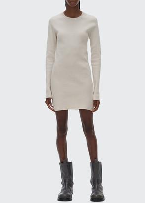 Helmut Lang Slash-Back Crewneck Sweater Dress