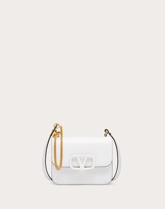 Valentino Small Vsling Smooth Calfskin Shoulder Bag Women Optic White Calfskin 100% OneSize