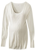 Liz Lange for Target® Maternity Long-Sleeve Cable Pullover Sweater - Assorted Colors
