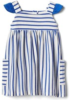 Gap Stripe-block flutter dress