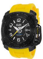 Elini Barokas 20009-BB-01-YAS Men's The General Yellow Silicone Black Dial