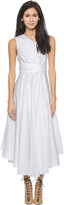 Tibi One Shoulder Wrap Dress