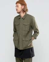 Vans Exeter Twill Shirt Jacket In Green VA2YOOKCZ