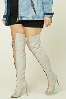 Forever 21 FOREVER 21+ Wide Width Faux Suede Boots