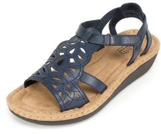 White Mountain Women's Chambray Wedge Sandal