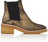 Dries Van Noten Women's Crepe-Sole Calf Hair Chelsea Boots-GOLD