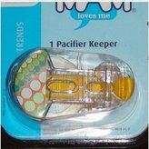 Mam Trends pacifier Clip keeper 1pk - yellow by