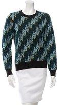 Kenzo Velvet-Accented Wool Sweater