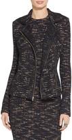 St. John Runoff Knit Moto Jacket