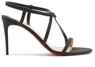 Christian Louboutin Selima Glittered-leather Sandals - Black