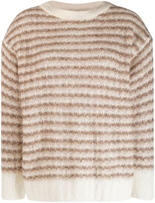 Theory striped knit sweater