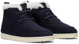 Loro Piana Namib Walk shearling-lined ankle boots