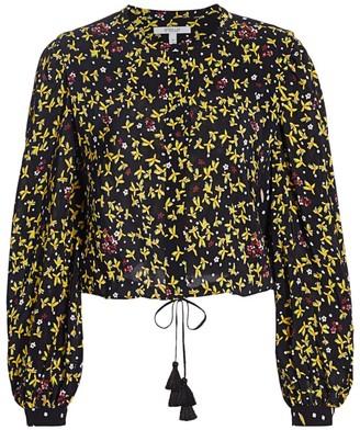 Derek Lam 10 Crosby Aster Mixed Floral Blouse