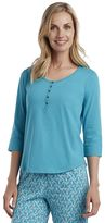 Jockey Women's Pajamas: Henley Pajama Top