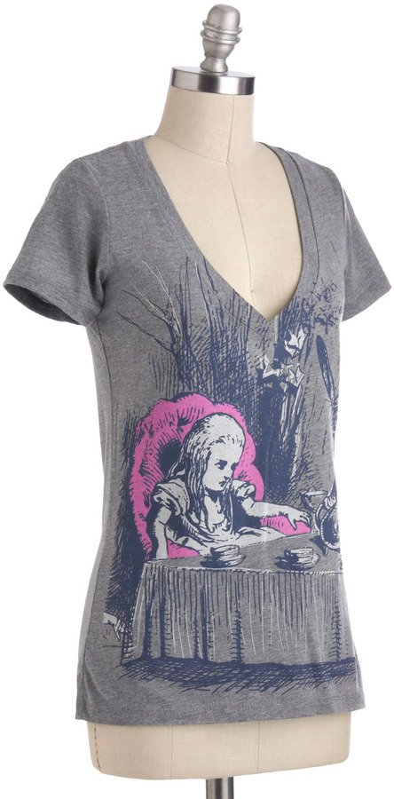 Out of Print Novel Tee in Alice