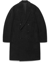 Oversize Double Chesterfield Coat Fa [dark Grey]