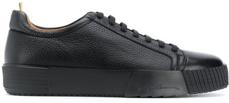 Giorgio Armani Engraved Logo Low-Top Sneakers